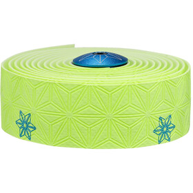 Supacaz Super Sticky Kush Starfade Handlebar Tape, neon yellow/neon blue print